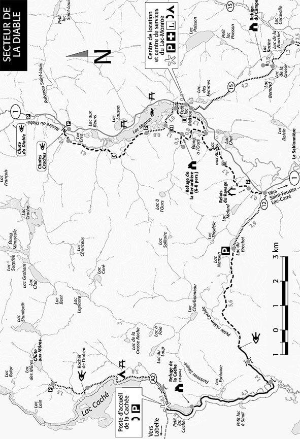 Diable Sector Mountain Biking Map
