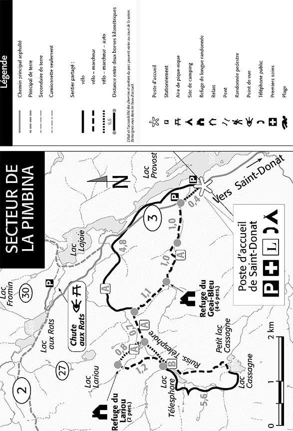 La Pimbina Sector Mountain Biking Map