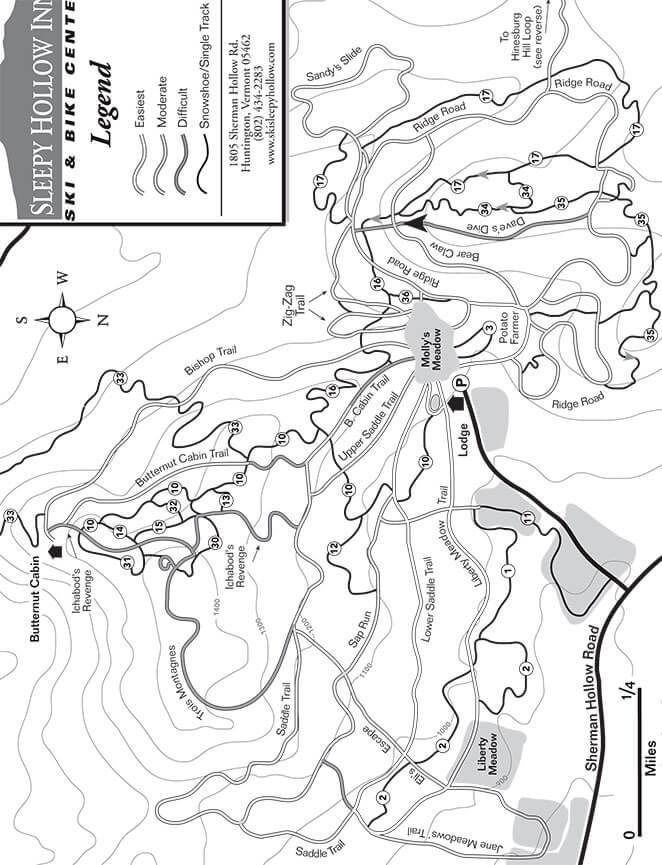 Sleepy Hollow Mountain Biking Map