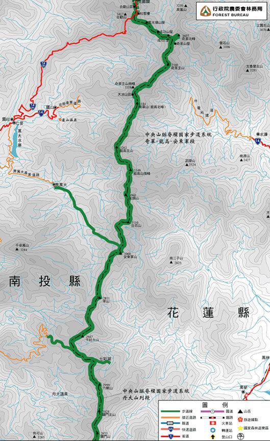 Dandashan Mountains Hiking Map