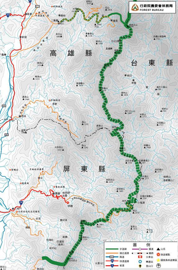 North Dawu Sector Hiking Map