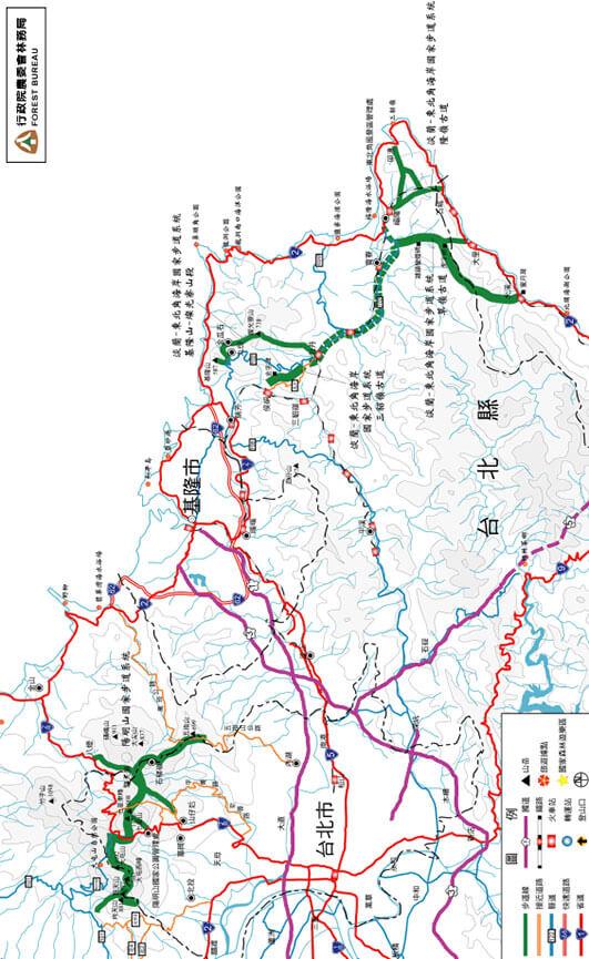 Yangmingshan National Park Hiking Map