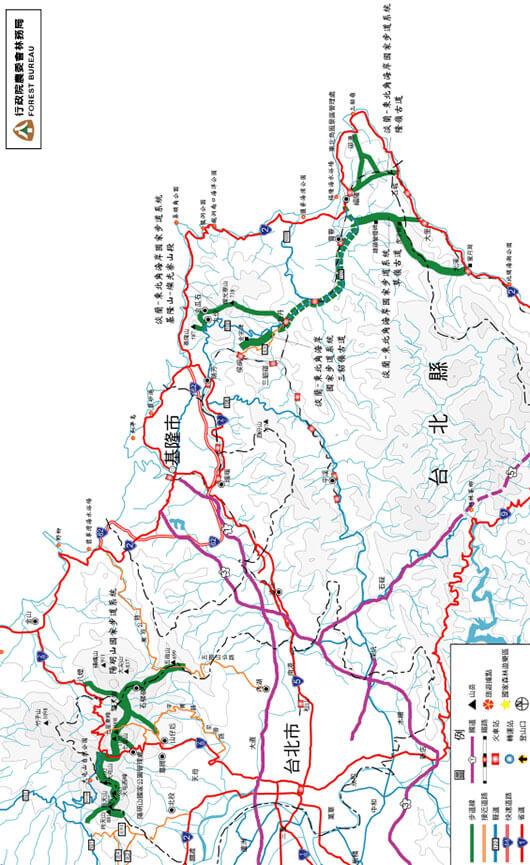 Sandiaoling Historic Trail Hiking Map