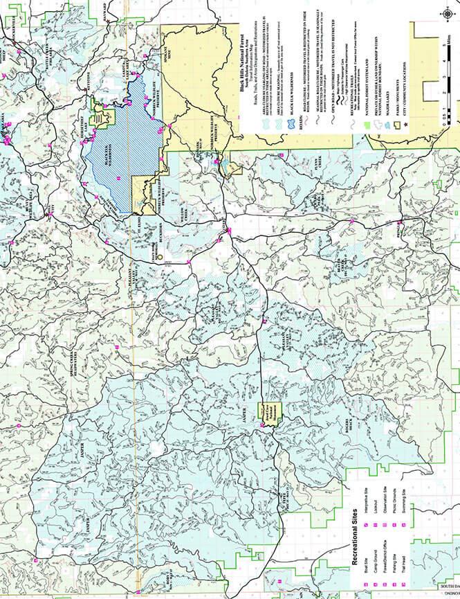 Northern Black Hills ATV Trails Map