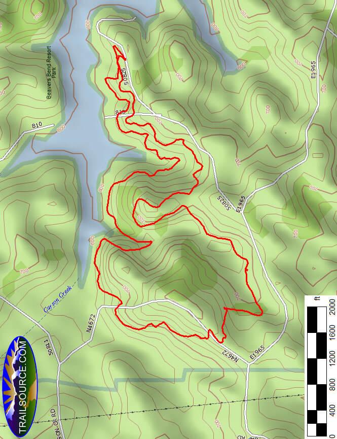 Hochatown State Park Hiking Map