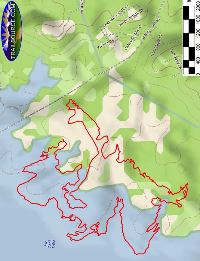 Cedar Hill Mountain Biking Map