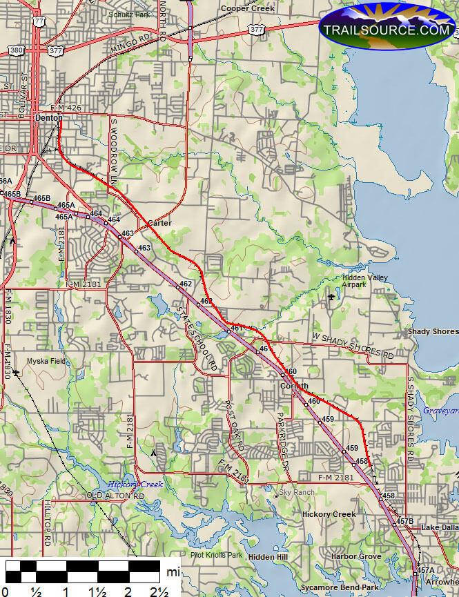 Denton Branch Trail Mountain Biking Map