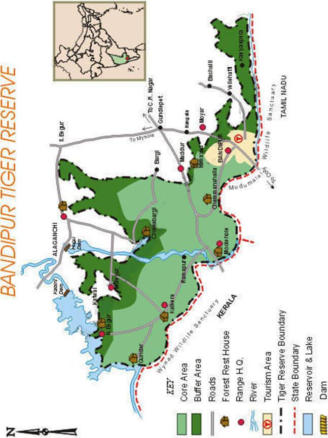 Bandipur National Park Hiking Map
