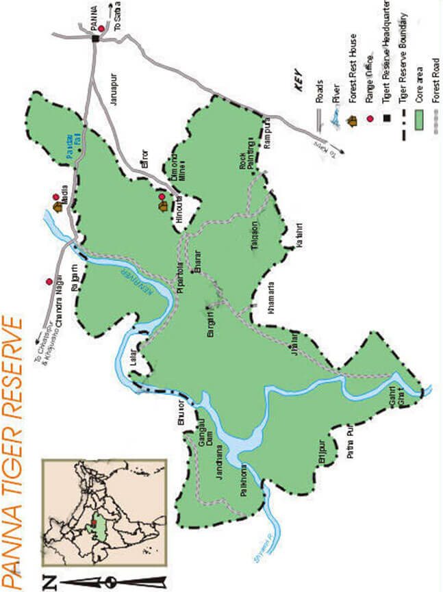 Panna National Park Hiking Map