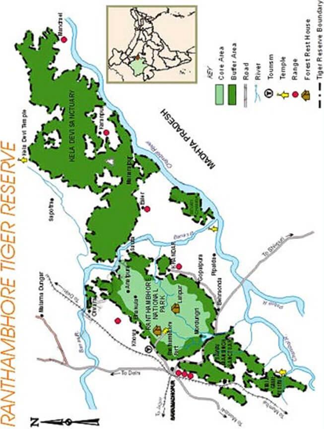 Ranthambore National Park Hiking Map