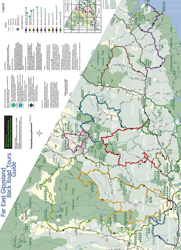 East Gippsland State Forest Dirt Biking Map