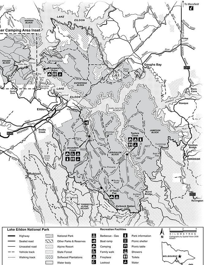 Lake Eildon National Park Dirt Biking Map