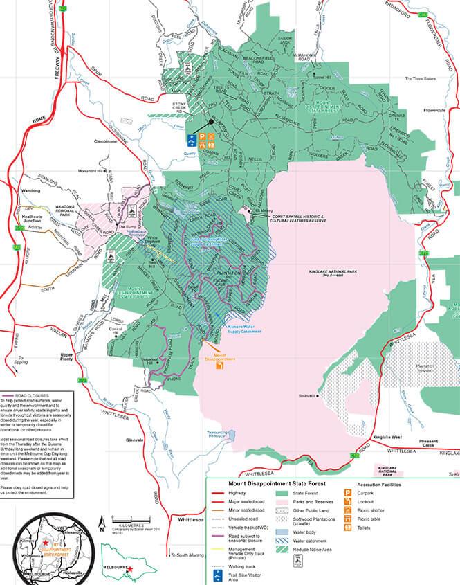 Mount Disappointment Trail Bike Area Dirt Biking Map