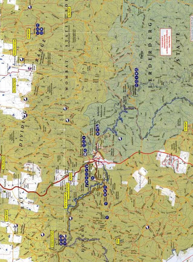 Wombat State Forest Dirt Biking Map