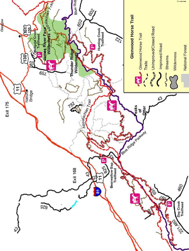 Glenwood Horse Trail Horseback Riding Map