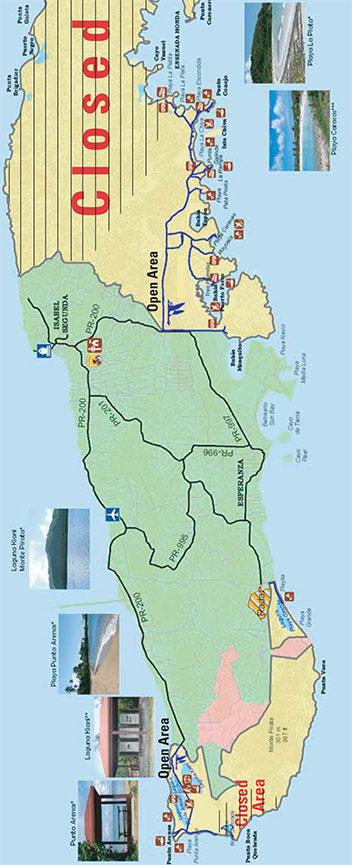 Vieques Island Horseback Riding Map