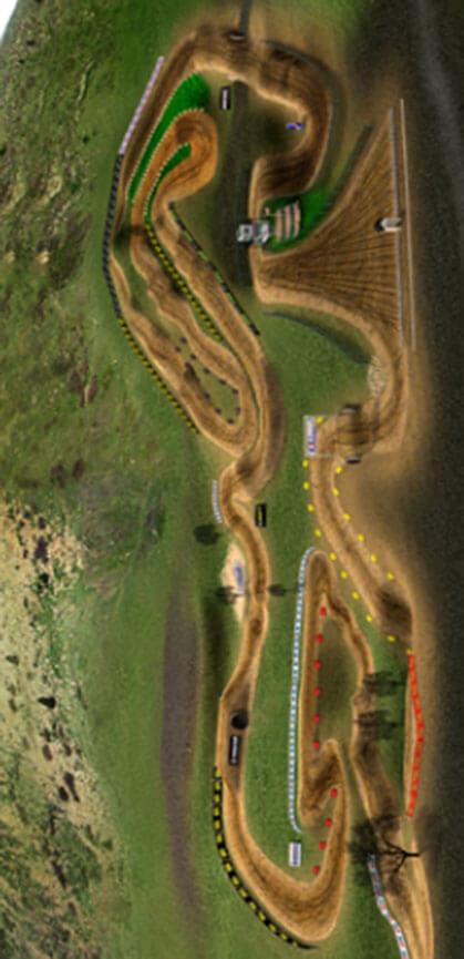 Thunder Valley Motocross Park Dirt Biking Map