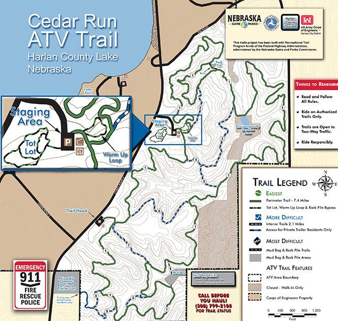 Harlan County Lake ATV Area ATV Trails Map