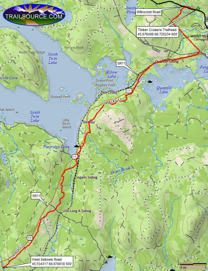 Katahdin Region Multi-Use Trail ATV Trails Map
