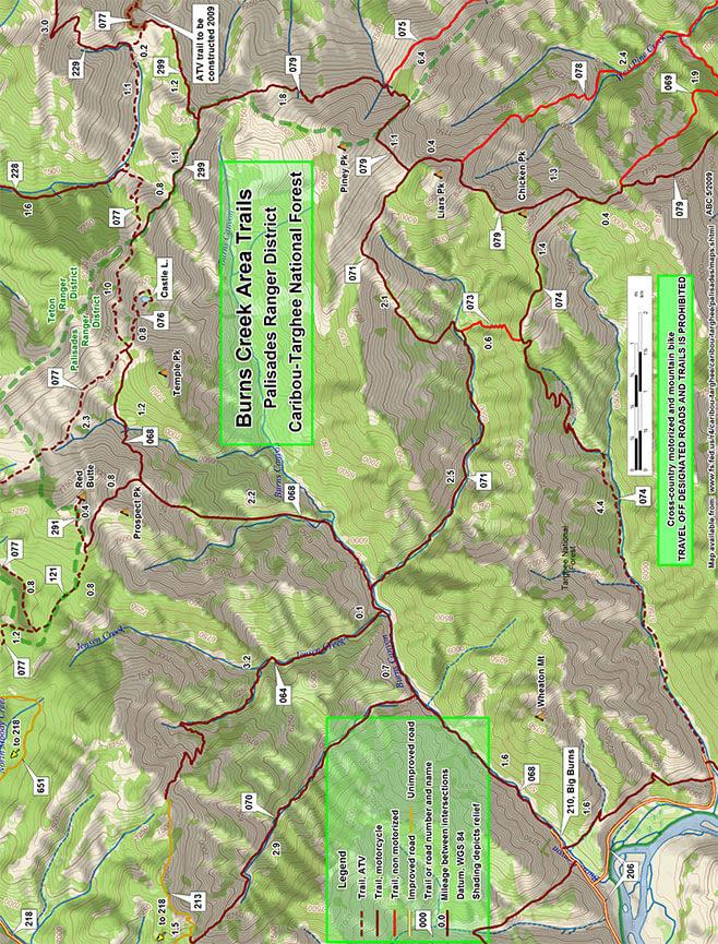 Burns Creek ATV Trails Map