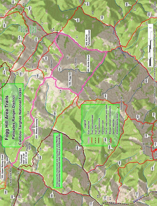 Fogg Hill ATV Trails Map