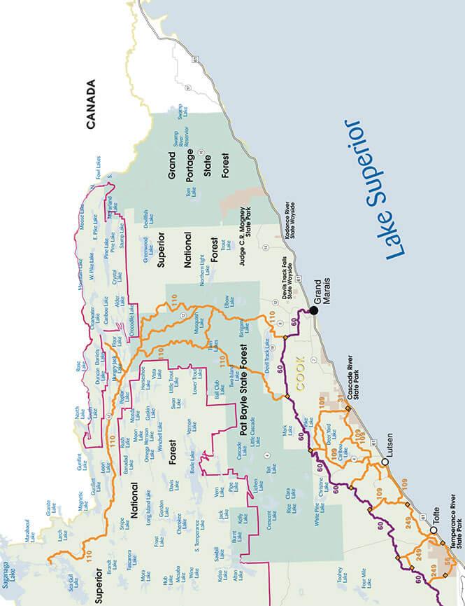 Grand Marias Snowmobiling Map