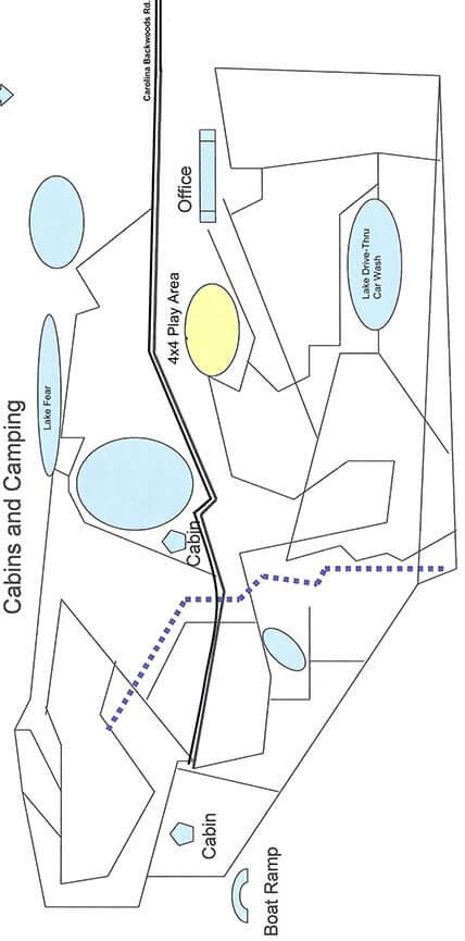 Carolina Backwoods ATV Trails Map