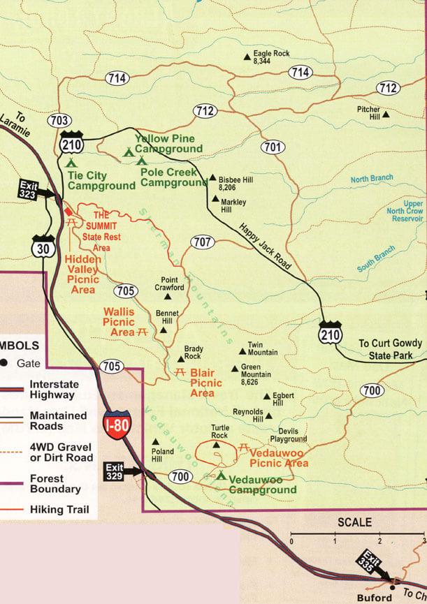Pole Mountain Range Dirt Biking Map
