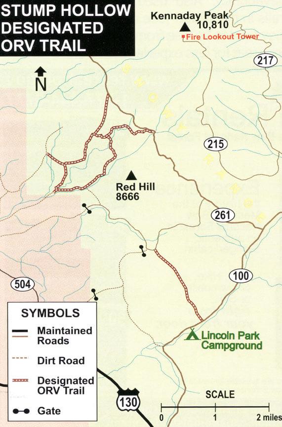 Stump Hollow ORV Trail Dirt Biking Map
