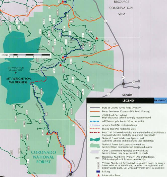 Gardner Canyon ORV Dirt Biking Map
