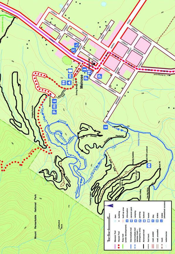 Melrose Mountain Biking Map