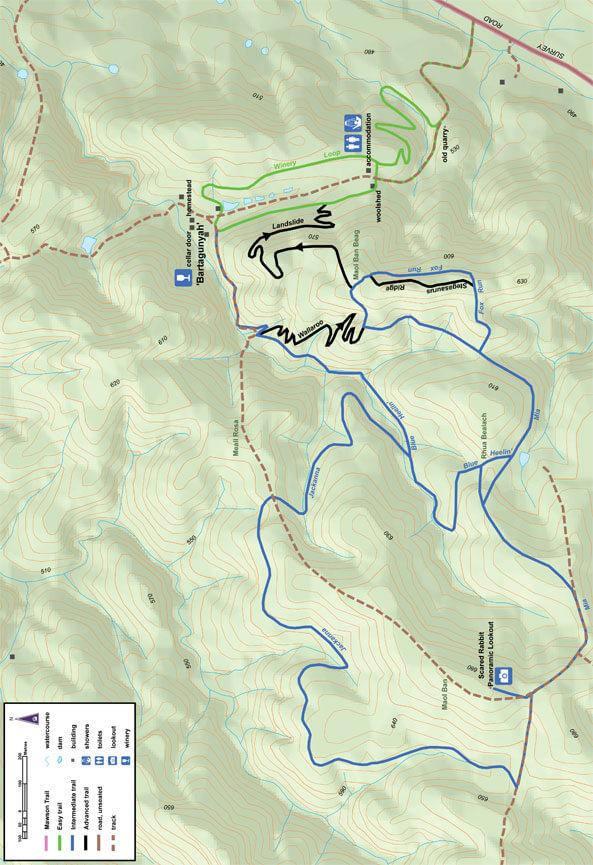 Bartagunyah Trails Mountain Biking Map