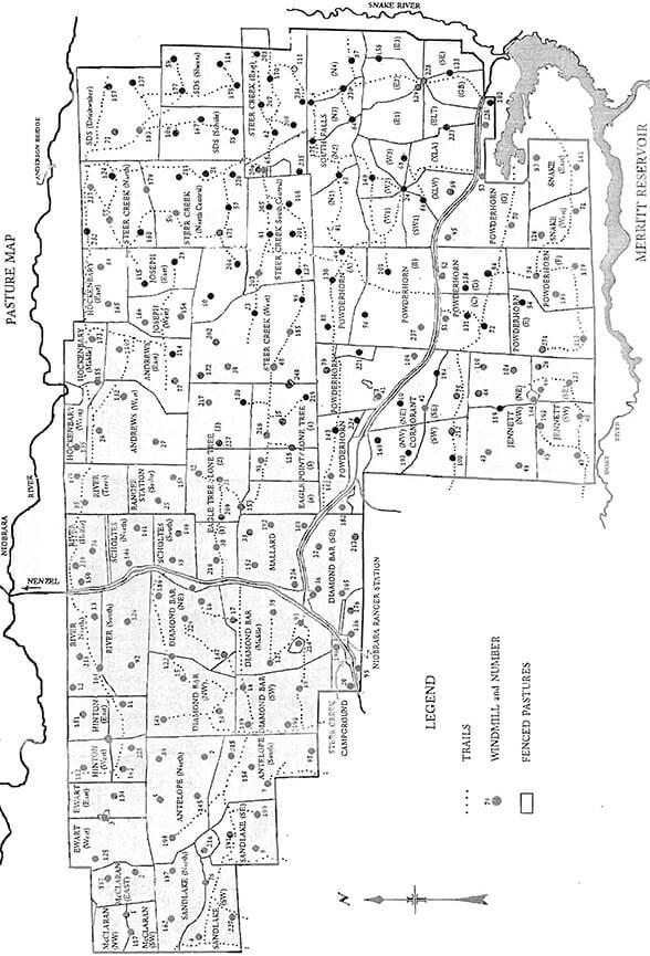 McKelvie National Forest Dirt Biking Map