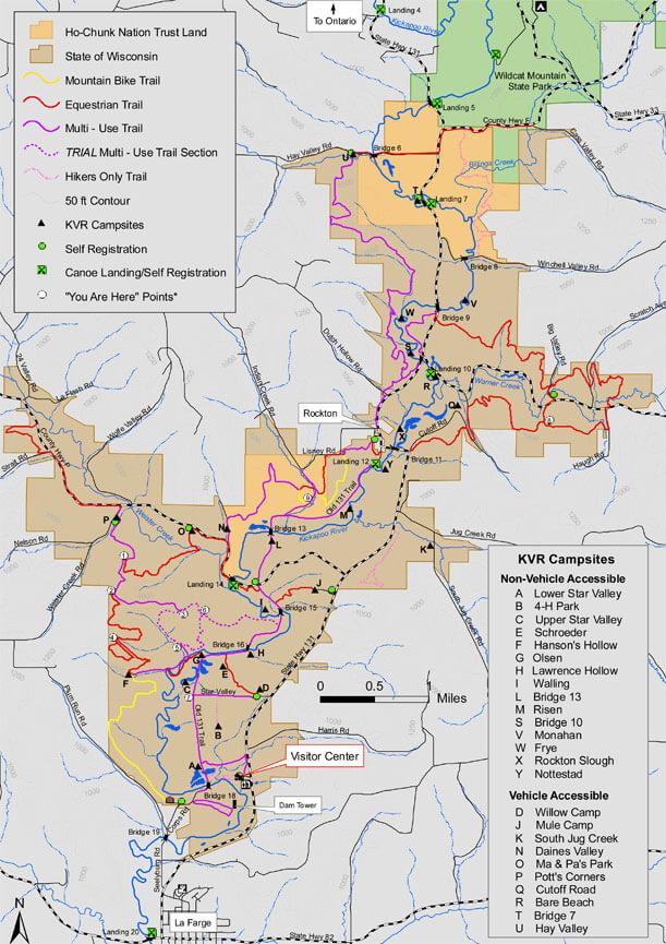 Kickapoo Valley Reserve Hiking Map