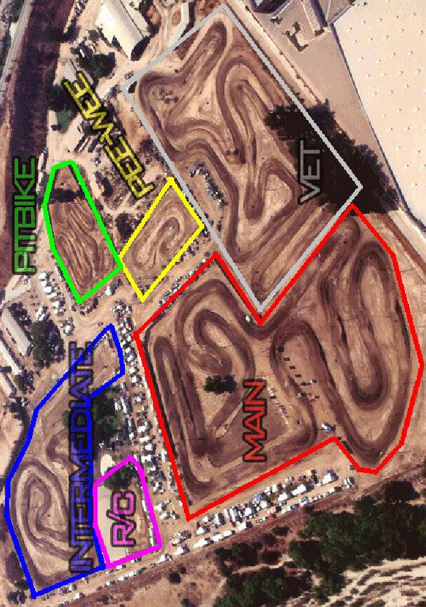 Milestone Ranch MX Park Dirt Biking Map