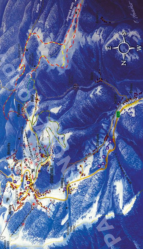 Donovaly Ski Resort Cross Country Skiing Map