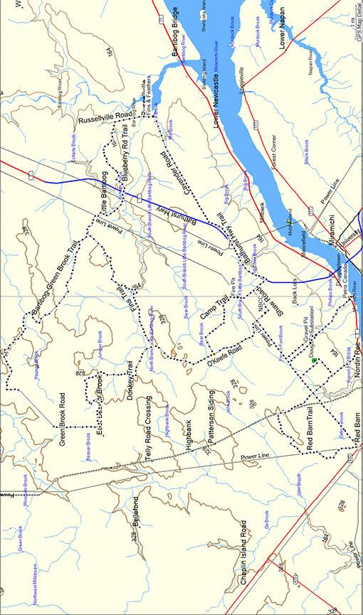 Miramichi ATV Club ATV Trails Map