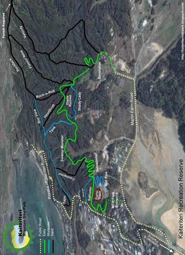 Kaiteriteri MTB Park Mountain Biking Map