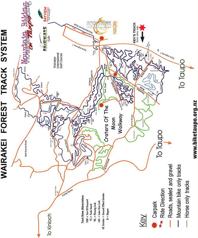 Wairakei MTB Park Mountain Biking Map