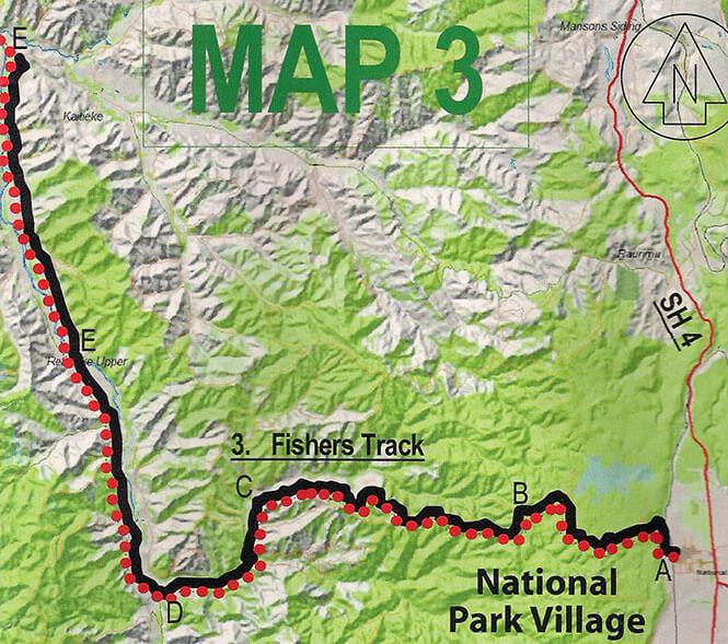 Fishers Track Mountain Biking Map
