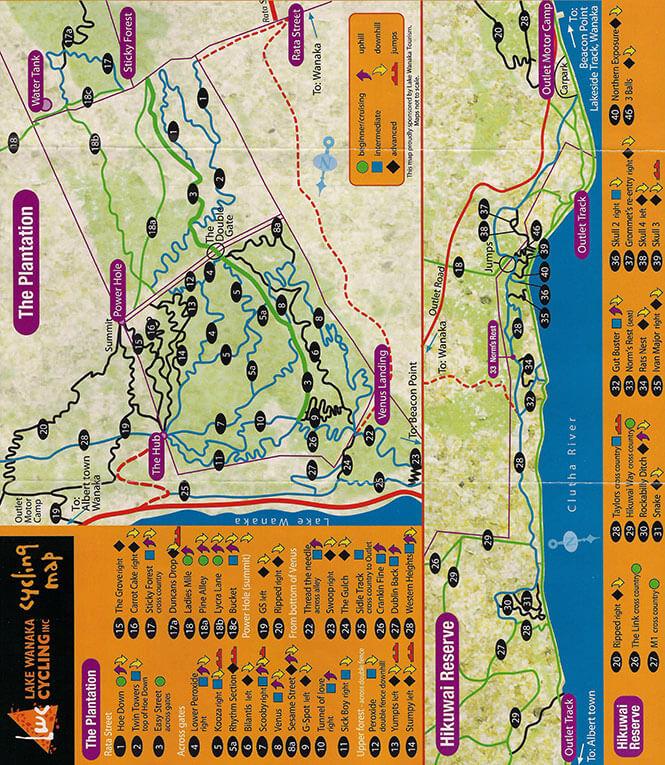 The Plantation Mountain Biking Map