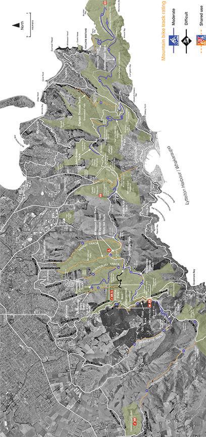 Port Hills - Godley Head MTB Track Mountain Biking Map