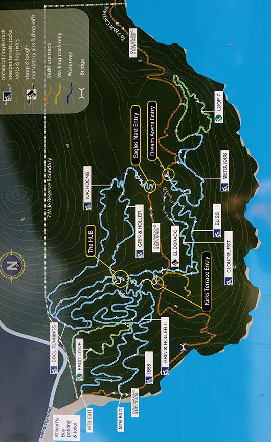 Seven Mile Recreation Reserve Mountain Biking Map