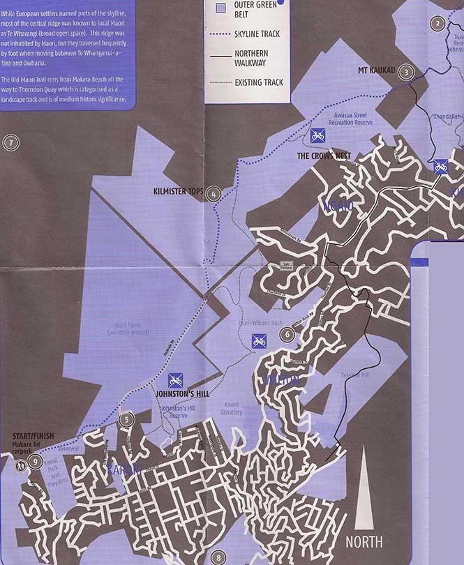 Skyline Track Mountain Biking Map