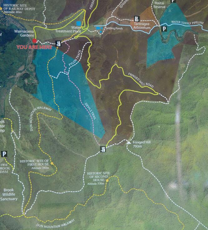 Dun Mountain Hiking Map