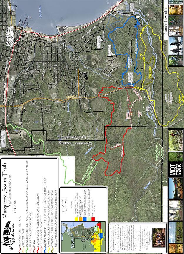 South Trails Mountain Biking Map