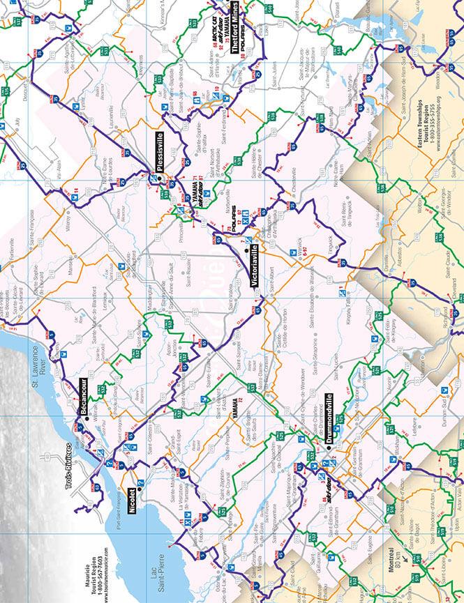 Centre-du-Quebec Snowmobiling Map