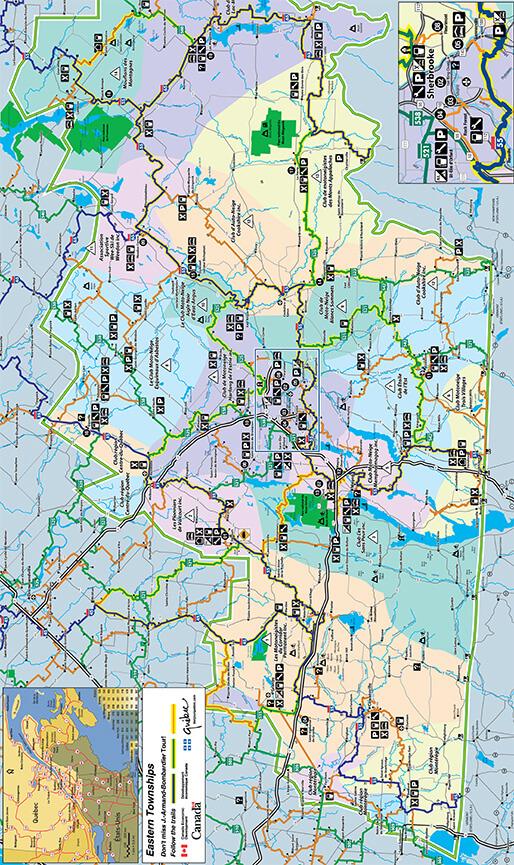 Sherbrooke Snowmobiling Map