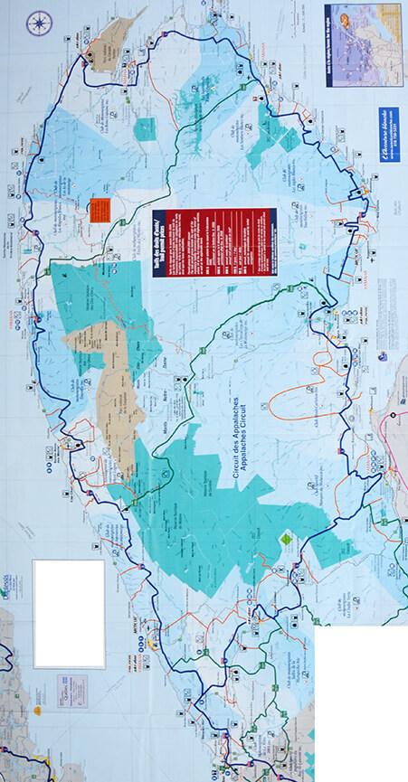 Gaspesie Peninsula Snowmobiling Map