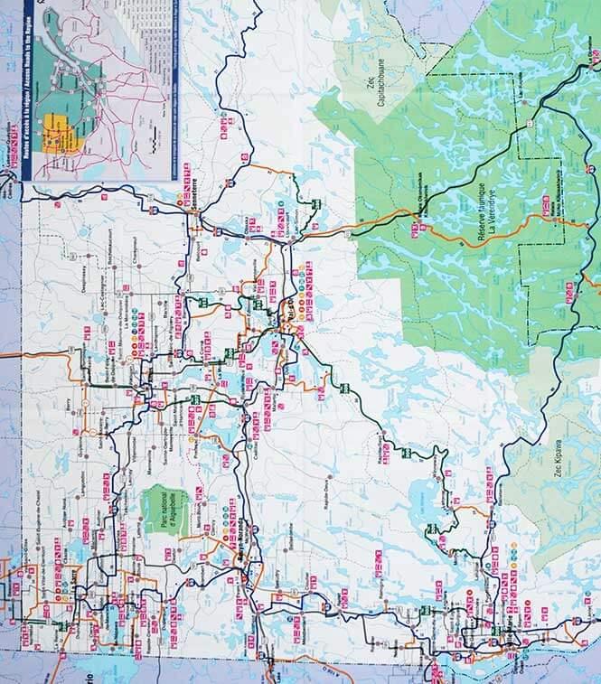 Abitibi-Temiscamingue Snowmobiling Map